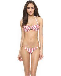 ViX Coral Carmen Bandeau Bikini Top - Coral - Lyst
