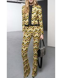Giambattista Valli Embroidered Chevron Jacket - Lyst