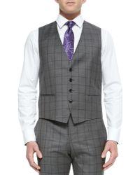 Boss by Hugo Boss Three-Piece Large Windowpane Suit brown - Lyst