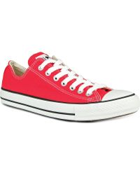 Converse All Star Ox Low Red Canvas Red - Lyst