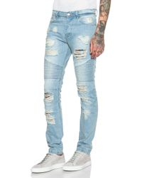 Stampd | Distressed Moto Jeans | Lyst
