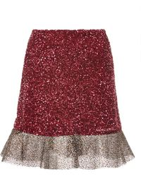 Rodarte Glitter-trimmed Sequined Skirt - Lyst