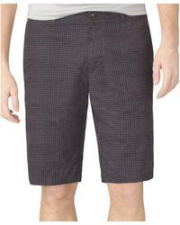 Calvin Klein Wavy Check Shorts - Lyst