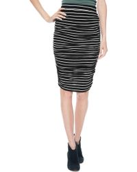 Splendid New Haven Stripe Midi Skirt - Lyst