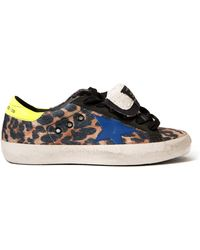 Golden Goose Deluxe Brand Superstar Leopard Sneakers animal - Lyst