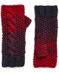 Eugenia Kim - 'carlie' Fingerless Cable Knit Gloves - Burgundy - Lyst