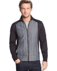 Calvin Klein Quilted Pique Fleece Jacket - Lyst