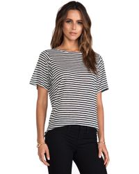 Enza Costa Loose Short Sleeve Crew Tee - Lyst