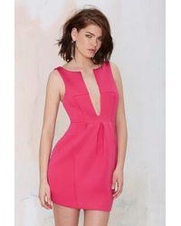 Nasty Gal Rant 'N Ravage Neoprene Dress pink - Lyst