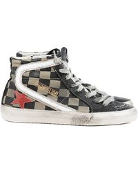 Golden Goose Deluxe Brand Womens Checkered Slide High Top - Lyst