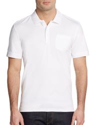 Saks Fifth Avenue Black Label Slim Cotton Polo Shirt - Lyst