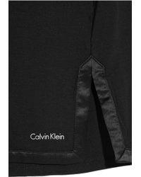 CALVIN KLEIN 205W39NYC - Satin-Trimmed Stretch-Modal Nightdress - Lyst