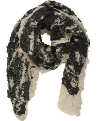 Barneys New York Crinkle Textured Scarf - Lyst