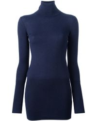 Mm6 By Maison Martin Margiela Turtle Neck Jumper Dress - Lyst
