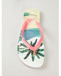 DSquared2 Palm Tree Print Flip Flops - Lyst