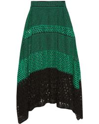 Proenza Schouler | Bi-colour Crochet Midi Skirt | Lyst