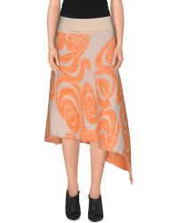 Acne Studios 3/4 Length Skirt orange - Lyst