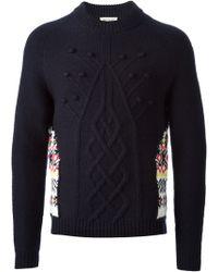 Paul & Joe Cable Knit Jacquard Sweater - Lyst