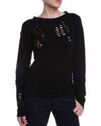 R13 Shredded Sweatshirt - Lyst