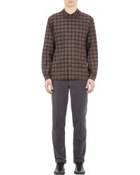 Margaret Howell Plaid Brushed Twill Shirt - Lyst
