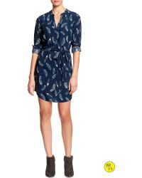 Banana Republic Factory Vee Print Dress - Lyst