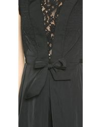 Nina Ricci Taffeta Bow Dress - Black - Lyst