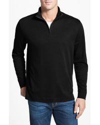 Cutter & Buck 'Belfair' Quarter Zip Pima Cotton Pullover - Lyst