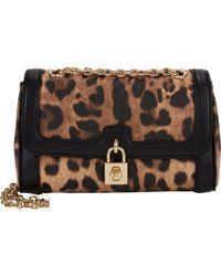 Dolce & Gabbana Leopard-Pattern Shoulder Bag - Lyst