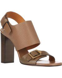 Chloé Bucklestrap Slingback Sandals - Lyst