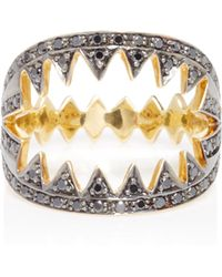 Ara Vartanian   Shark Ring With Black Diamonds   Lyst