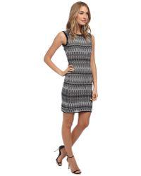 M Missoni Tie-Dye Stretch Knit Open Back Dress - Lyst