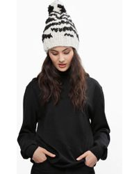 Wool And The Gang Zebra Crossin' Beanie - Lyst