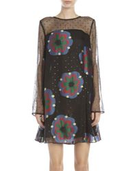Suno Embroidered Shift Dress floral - Lyst