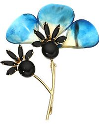 Marni Horn And Crystal Brooch - For Women - Lyst