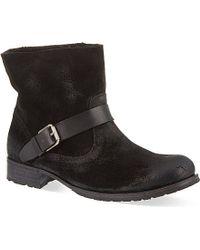 NDC Leather Biker Boots - Lyst