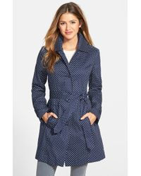 London Fog Polka Dot Single-Breasted Trench Coat - Lyst