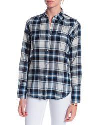 Nili Lotan Plaid Collared Shirt - Lyst