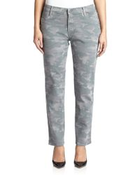 James Jeans Printed Cigarette Jeans gray - Lyst