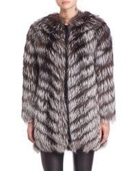 Zac Posen | Feathered Fox Fur Jacket | Lyst