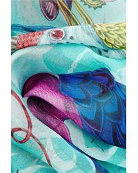 Emma J Shipley - Audubon Printed Silk-Chiffon Scarf - Lyst