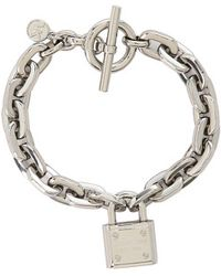 Michael Kors Collection Chainlink Padlock Toggle Bracelet - Lyst