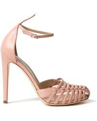 Altuzarra Coco Toe Cap Sandals pink - Lyst