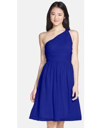 Donna Morgan 'Rhea' One-Shoulder Chiffon Dress - Lyst