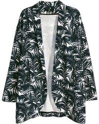 H&M Wide Jacket black - Lyst