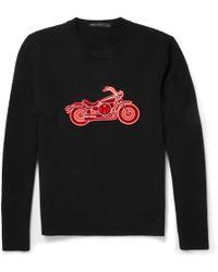 Marc By Marc Jacobs Motorcycle-appliquã Merino Wool Sweater - Lyst