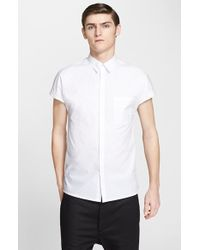 Helmut Lang Men'S Trim Fit Parachute Cotton Cap Sleeve Shirt - Lyst