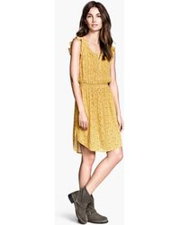 H&M Crinkled Dress - Lyst