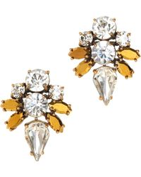 J.Crew Jeweled Arrow Earrings - Lyst