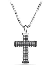 David Yurman Sky Large Cross On Chain - Lyst