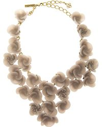 Oscar de la Renta Swirl Flower Necklace - Lyst